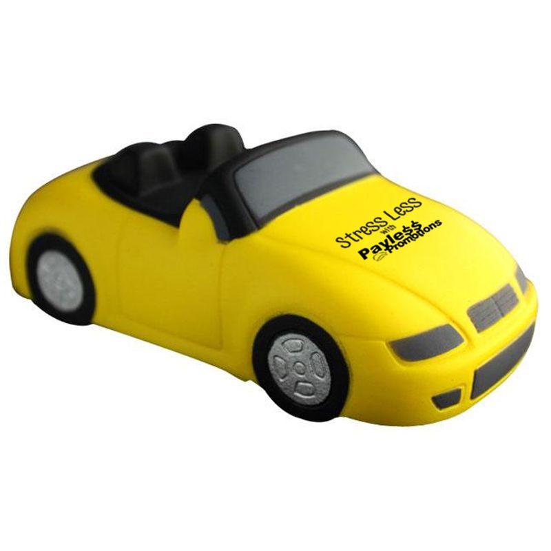 S103 Sports Car Yellow Custom Transport Stress Balls
