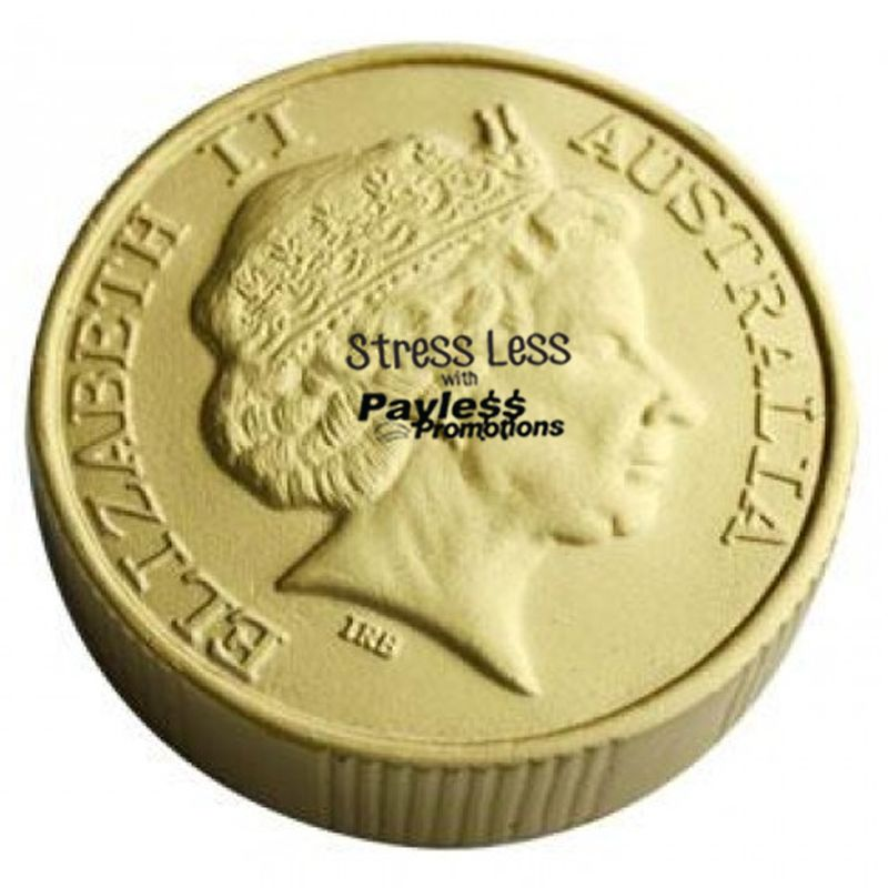 S110 Coin Gold Promotional Money / Finance Stress Shapes