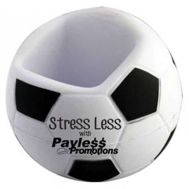 S131 Soccer Personalised Mobile Phone Holder Stress Shapes