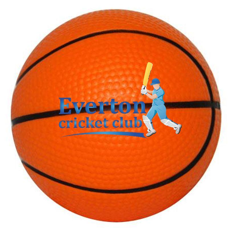 S14 Basket Ball Orange Printed Sports Stress Balls