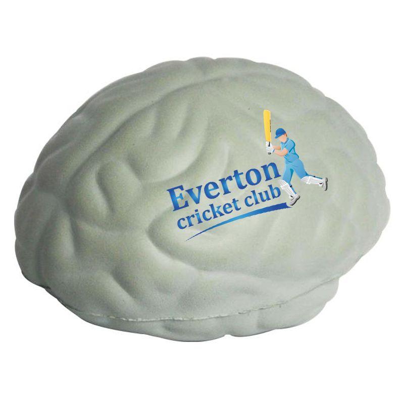 S39 Brain Grey Printed Health Stress Balls
