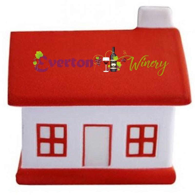 S40B House/Red Roof Branded Household Stress Balls