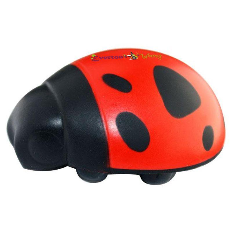 S75 Ladybird Printed Animal Stress Balls