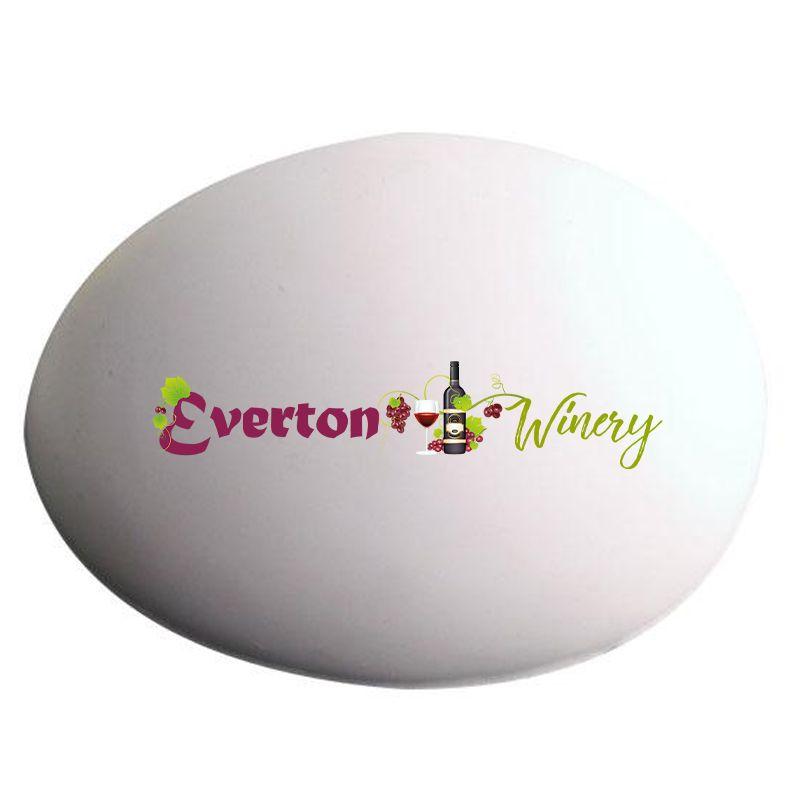 S92 Egg White Printed Food Stress Balls
