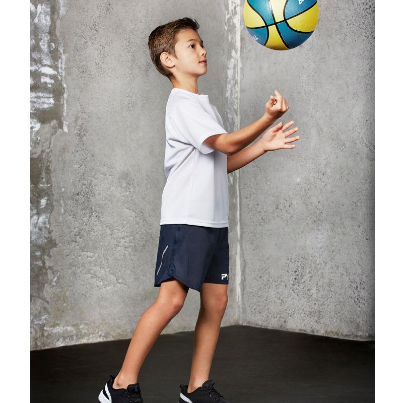 Nike 4765 Boys Kids Light Photo Blue Dry Elite Basketball Athletic Sports Short