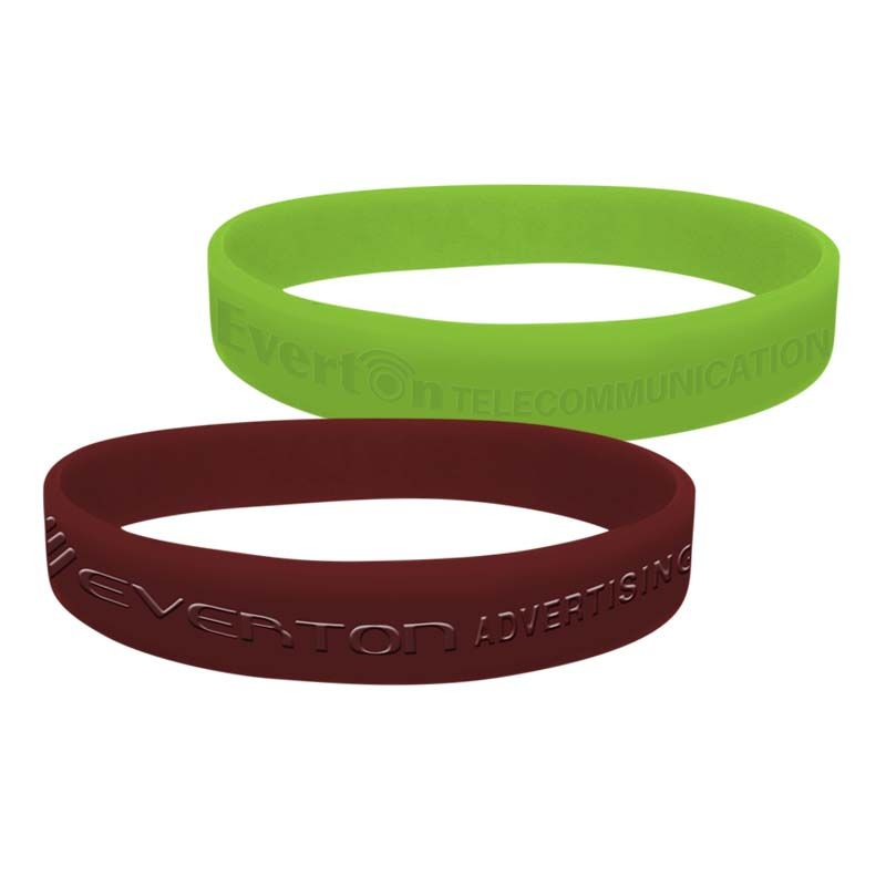 SWBD Solid Colour Debossed or Embossed Personalised Silicon Wristbands