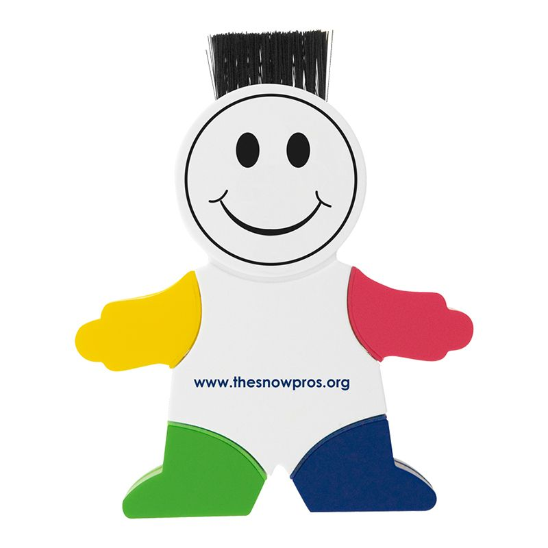 T321 4 Colour Little Man Printed Highlighters With Retractable Computer Brush