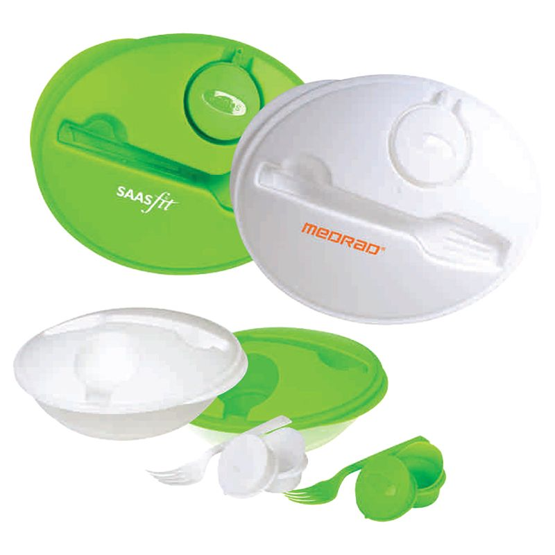 T548 Air Tight Logo Food Containers With Plastic Fork
