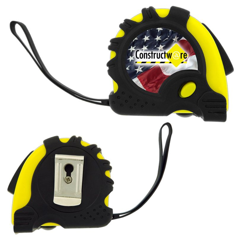 T565 Retractable Carpenter Printed Measuring Tape (5m) With Wrist Strap