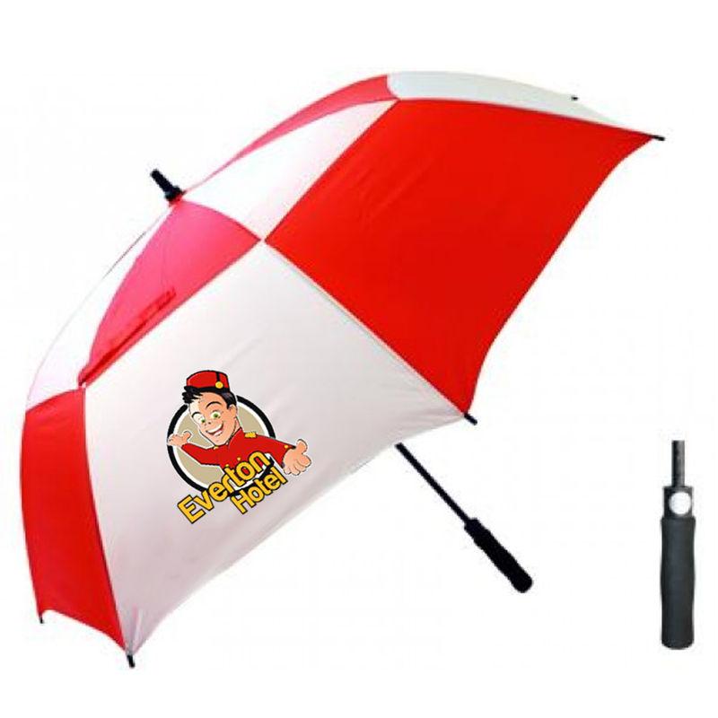 T30 Thunderstorm Logo Golf Umbrellas With Fibreglass Shaft & Ribs