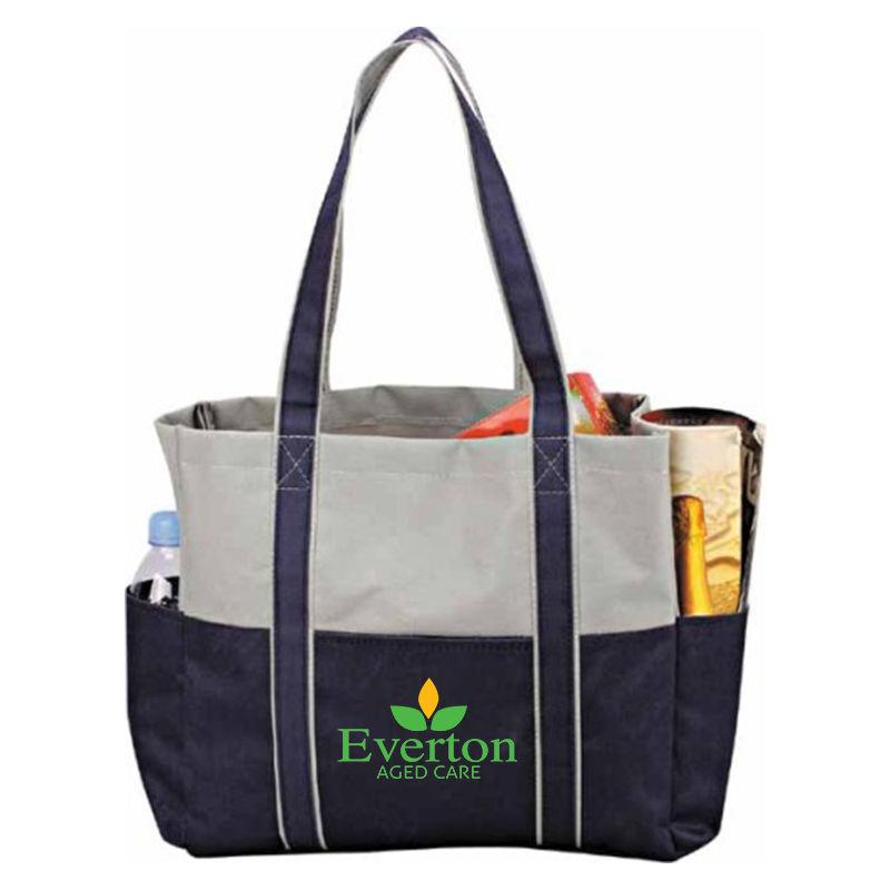TB012 Double Shoulder Straps Logo Tote Bags (33cm x 30cm x 10cm)