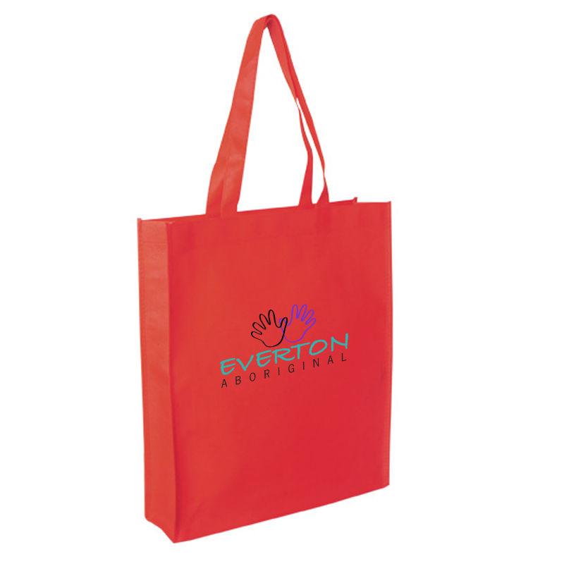 TB019 Full Gusset Logo Shopping Bags (27cm x 35cm x 8cm)