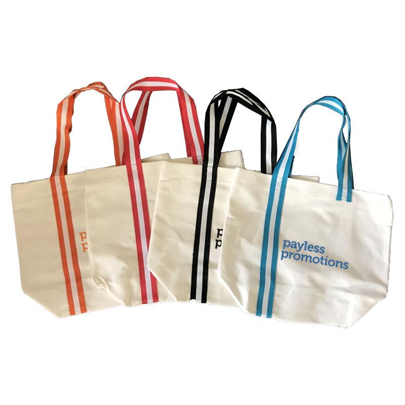 TB022 Beach Printed Canvas Shopping Bags (38cm x 34cm)