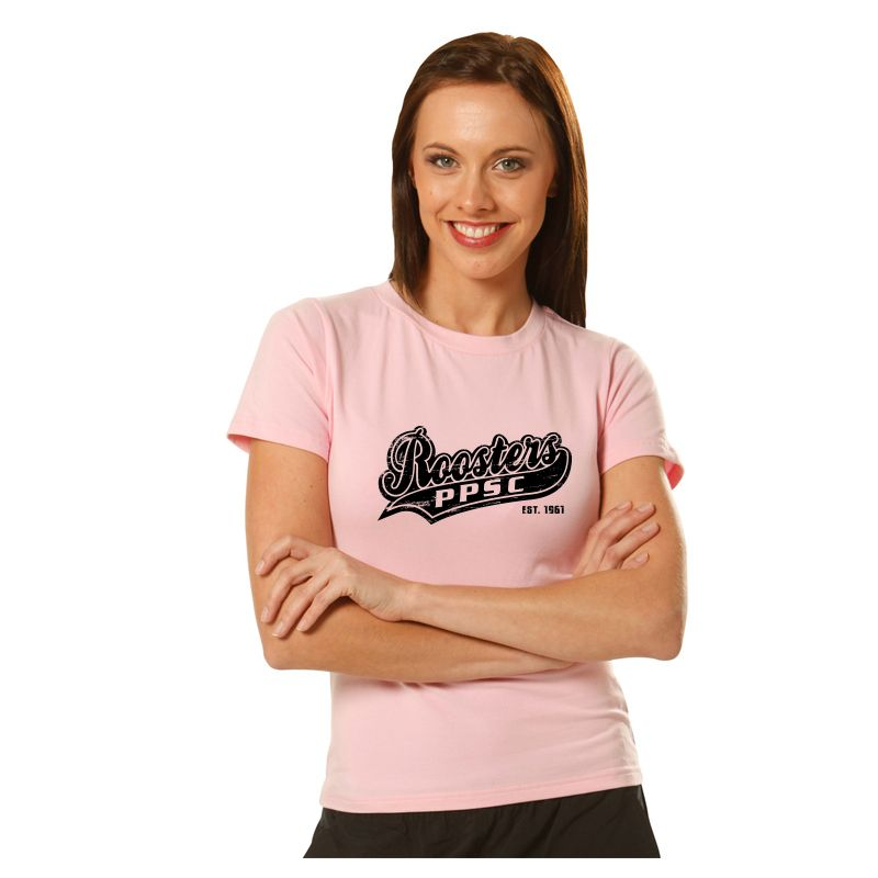 TS15 Ladies Slimfit 100% Cotton Logo T-Shirts With Stretch