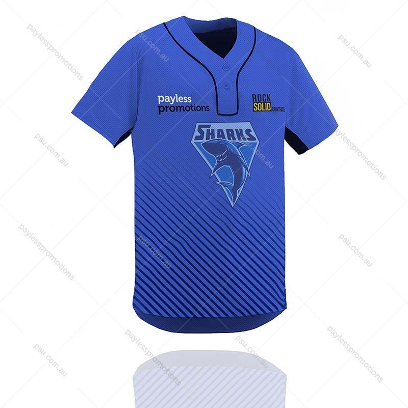 sale retailer f2fdd 3550b TS9-M Full-Custom Sublimation 2 Button Baseball & Softball Jerseys - S  Series