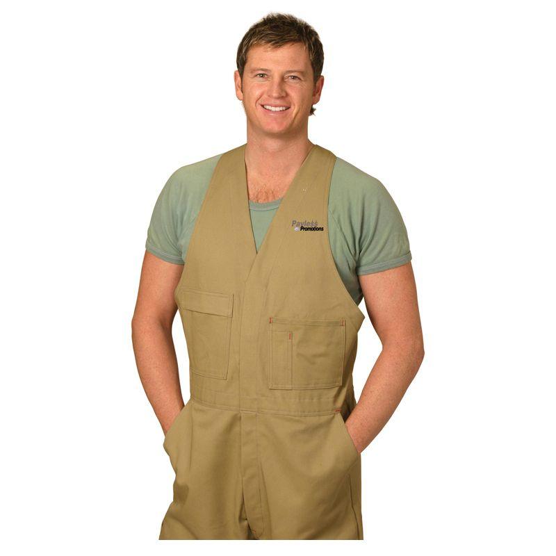 WA01 Action Back Personalised Workwear Overalls (Regular)