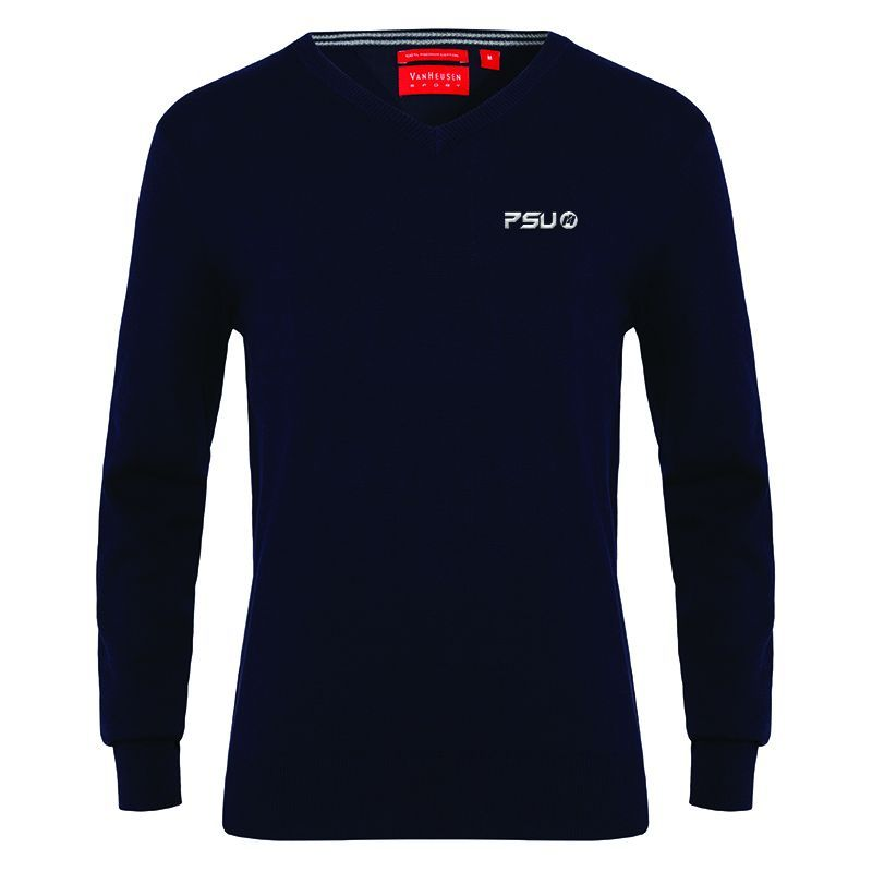 VJECR01 Van Heusen Casual Uniform Knitted Jumpers - Navy Only