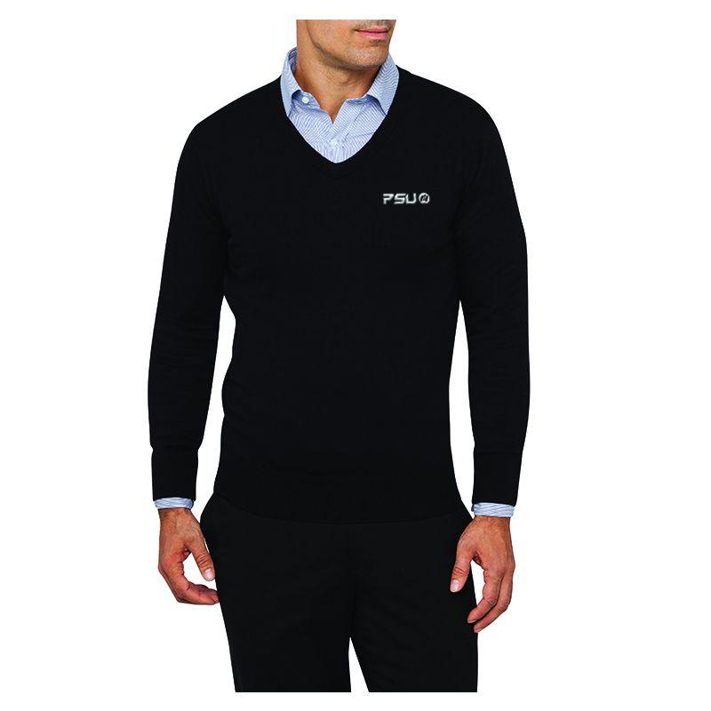 VJECR03 Van Heusen Casual Branded Knit Wear Jumpers - Black Only