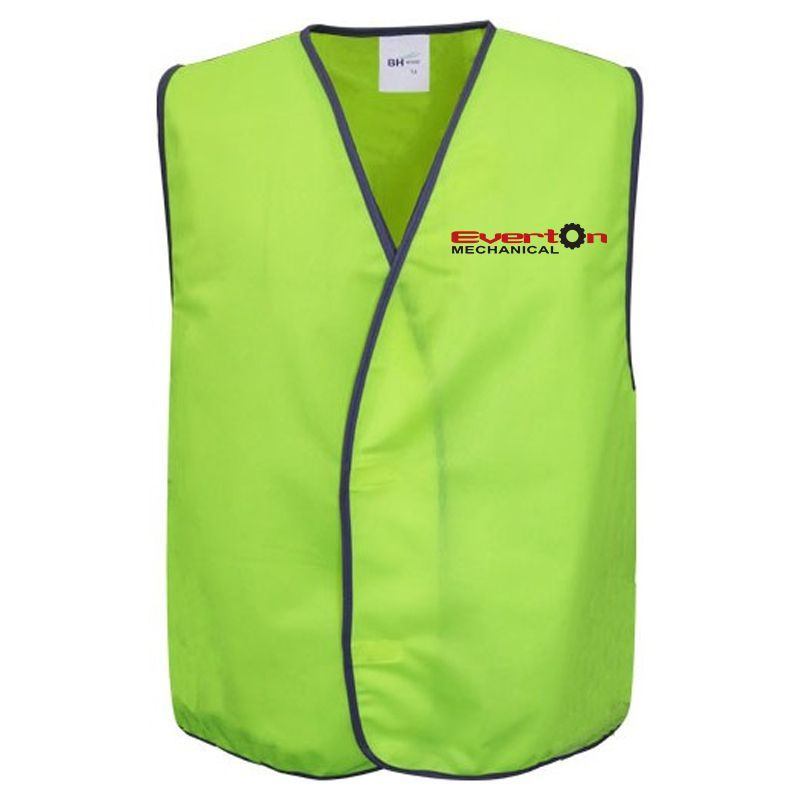 W1 Velcro Personalised Hi Vis Vests With Full Colour Branding
