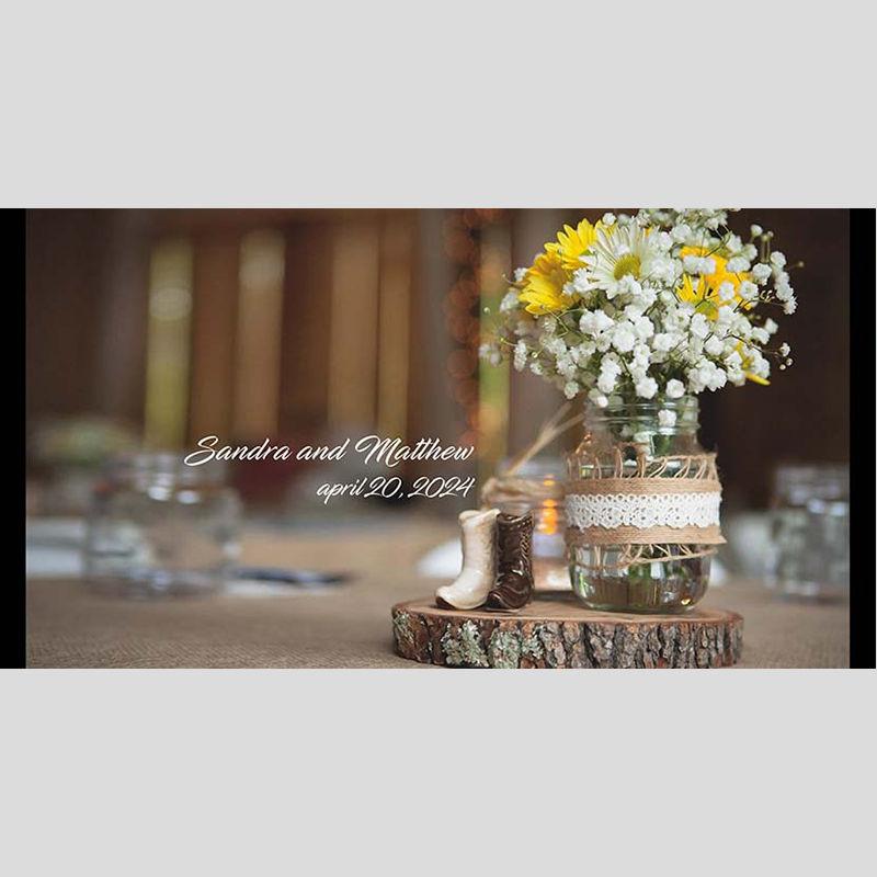 WD10 Flower Jar Wedding Stubby Holders