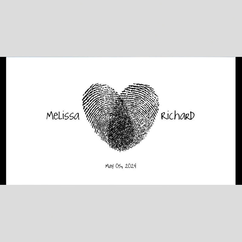 WD102 Thumbprint Heart Wedding Stubby Holders