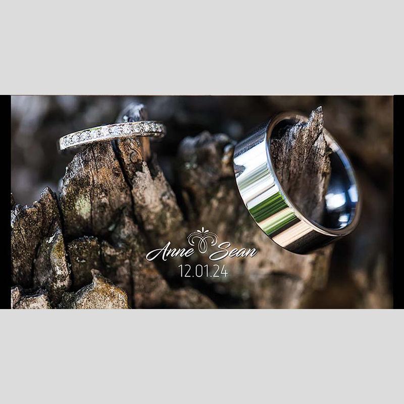 WD129 Rings On Woods Wedding Stubby Holders