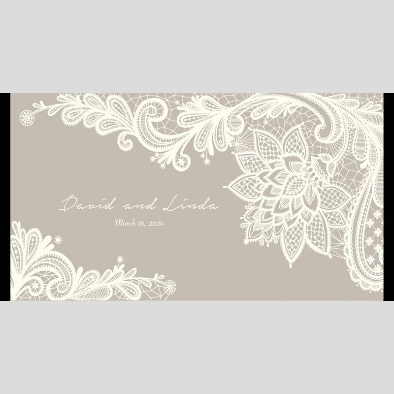WD138 Floral Pattern Wedding Stubby Holders