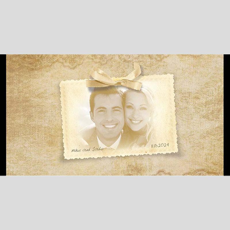 WD193 Postcard Photo Wedding Stubby Holders