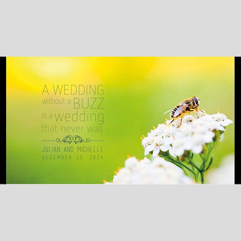 WD200 Flower Bee Wedding Stubby Holders