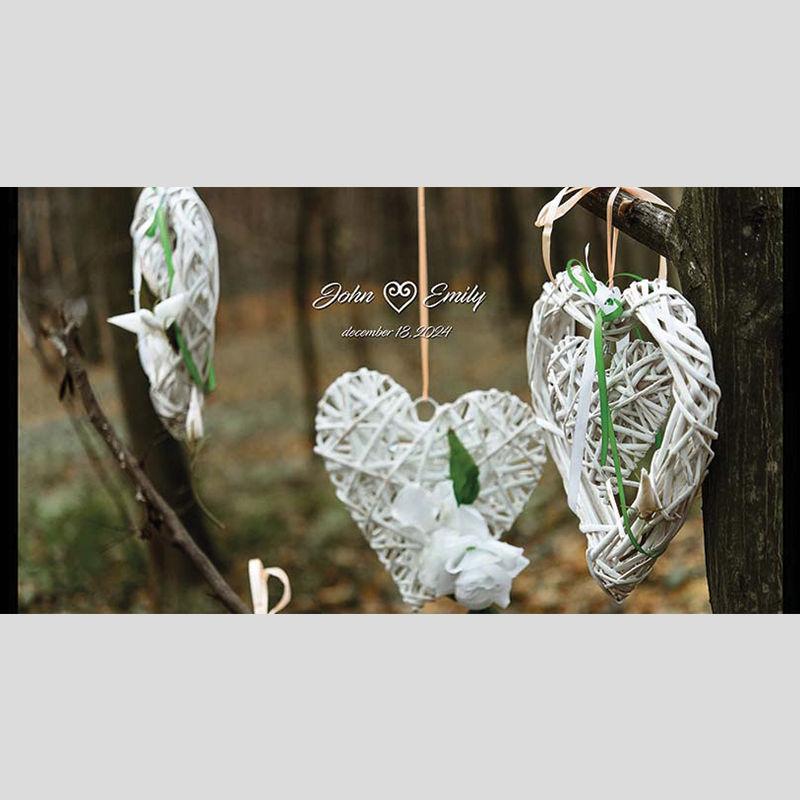 WD57 Hearts Wedding Stubby Holders