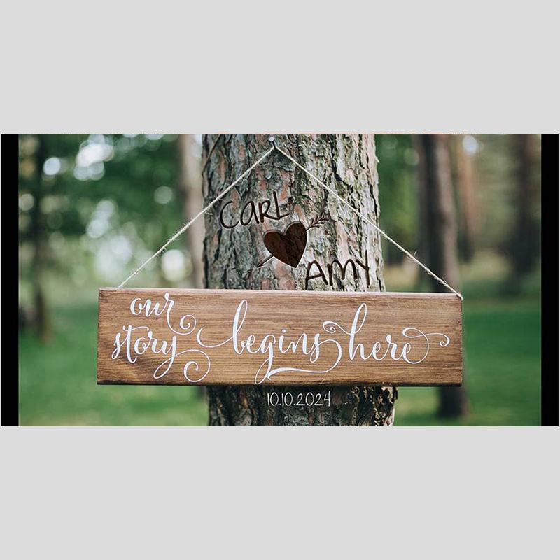 WD8 Wooden Wedding Stubby Holders