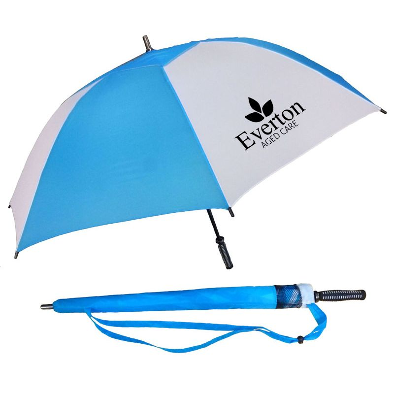 WG006M Hurricane Mini Logo Corporate Umbrellas With Fibreglass Shaft & Ribs