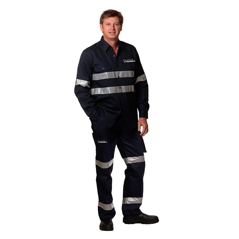 WP08HV-D Cotton Drill Branded Work Pants - Stout