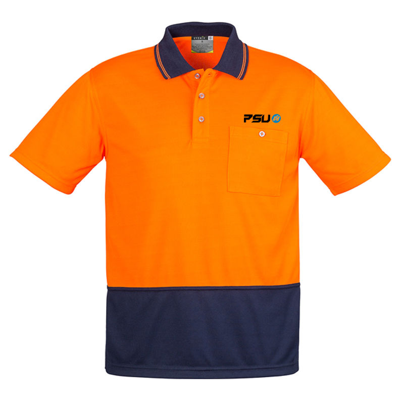 ZH231 Unisex Basic Spliced Custom High Vis Polos