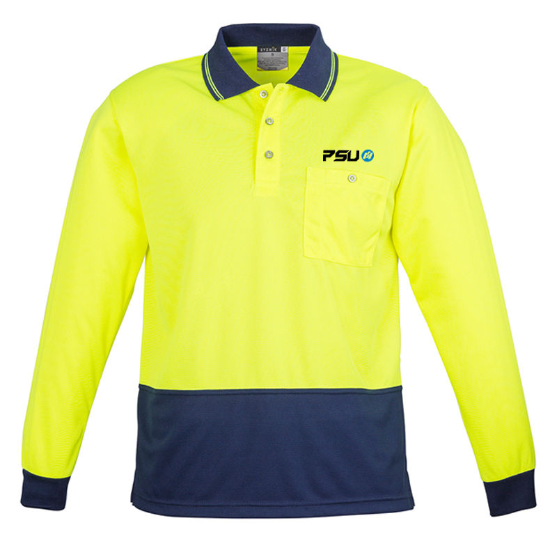 ZH232 Unisex Basic Spliced Branded Hi Visibility Polos