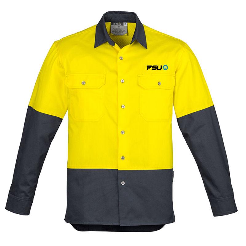 ZW122 Spliced Industrial Printed High Visibiity Shirts