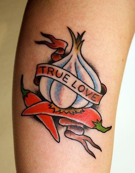 Tatuagem de Pimenta e Alho
