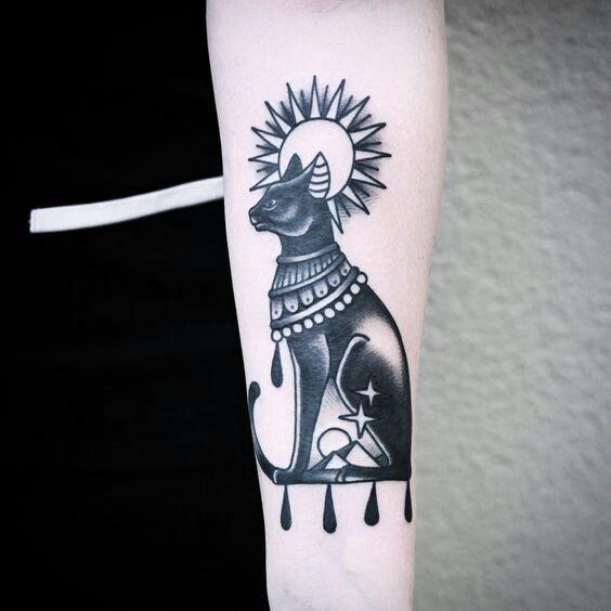 Tatuagem de Gatos - Egito