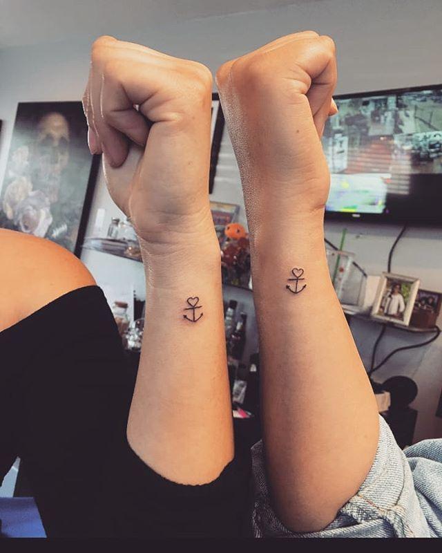 Tatuagem De Casal Ancora