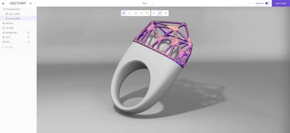 Vectary - Software para modelagem 3d