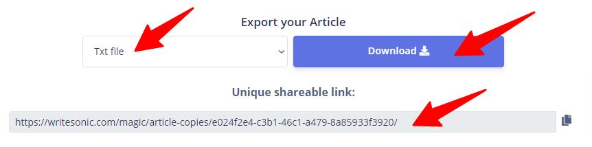 download ai copywriting article