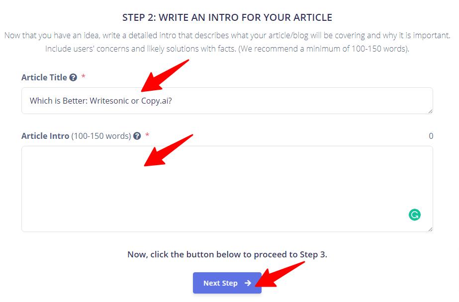 write blog intro