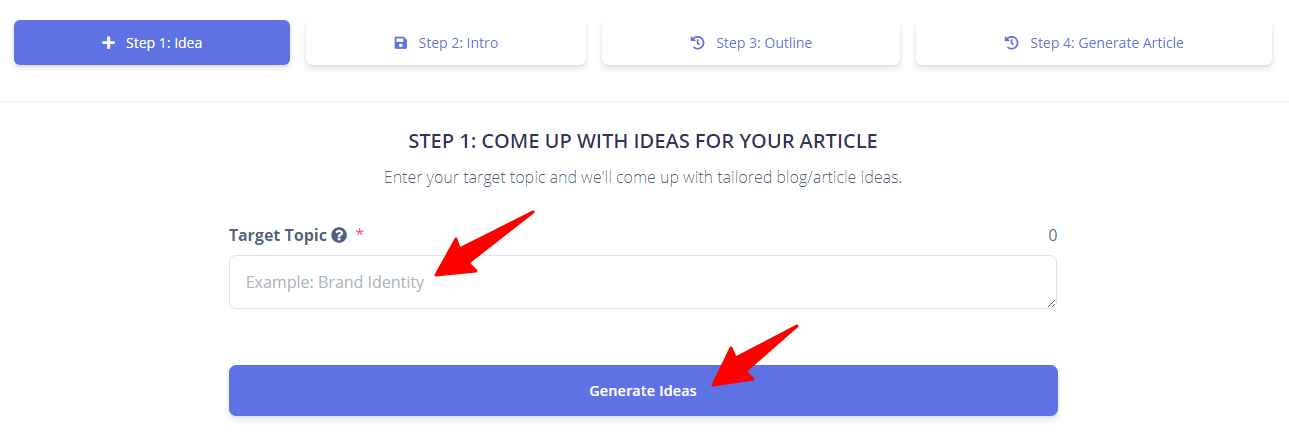 enter article topic