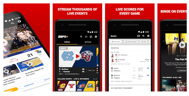 ESPN Sports- Best App To Watch Live Sports Free