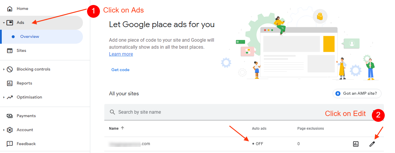 turn off google auto ads