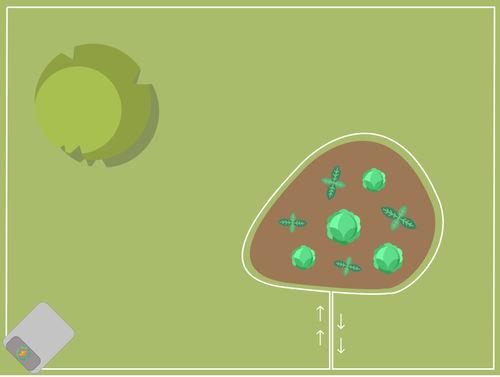 Begrenzungskabel - Beet innerhalb des Rasens