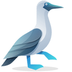 Bluepick Logo Blaufußtölpel