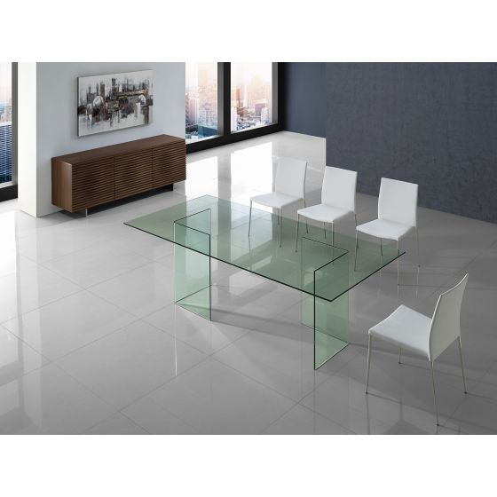 ✅ MIAMI Dining Table in Clear Glass | BostonConcept.com | pic1