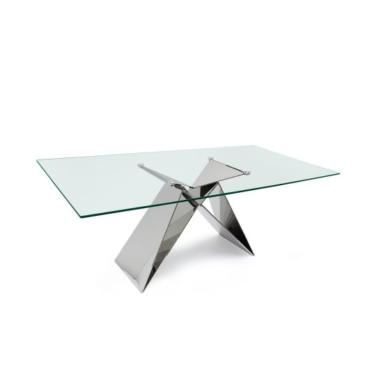 ✅ EIFFEL Dining Table in Clear Glass | BostonConcept.com | pic1