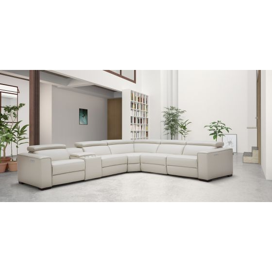 ✅ Picasso 6Pc Motion Sectional Silver Grey | BostonConcept.com | pic1